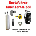 Boat diving device complete set with 2 litre steel bottle