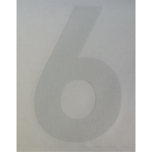 6 as MOD sticker reflective foil white 8 cm