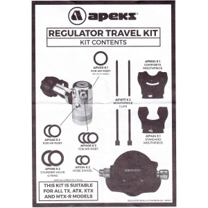 Apeks mouthpieces and O-rings in Travel Kit Set (AP0247)