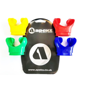 Apeks mouthpiece set of 4 mouthpieces red blue yellow green (AP1434/K)