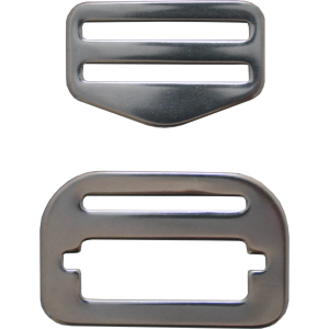 DirZone buckle set ADJUSTABLE stainless steel (1 set = 1 buckle)