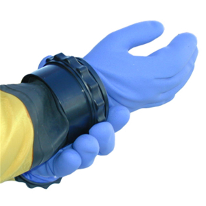 Assembly of dry glove system (arm side)