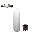 Steel cylinder with T-valve 232 bar 10 litres convex