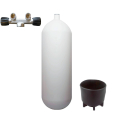 Steel cylinder with T-valve 232 bar 15 litres convex