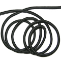 Bungee elastic band round 4 mm black