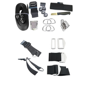 DirZone Backplate 3mm Edelstahl V4A + einstellb. Harness Quick Fix